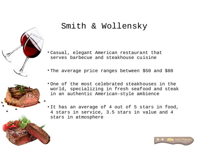 • Casual, elegant American restaurant that serves barbecue and steakhouse cuisine • The average price ranges between $50 a...