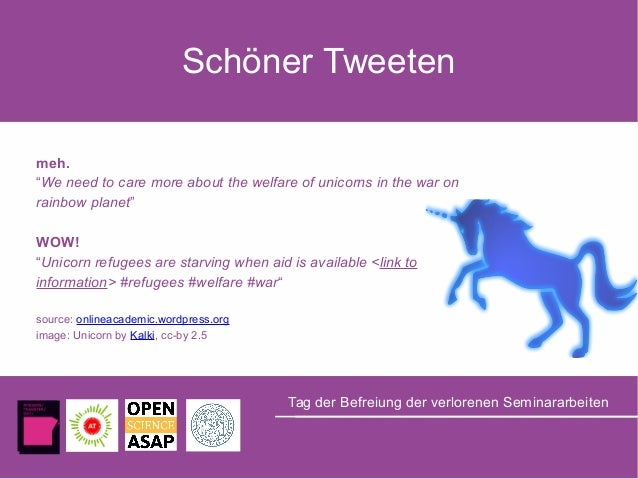 """Schöner Tweeten meh. """"We need to care more about the welfare of unicorns in the war on rainbow planet"""" WOW! """"Unicorn refug..."""