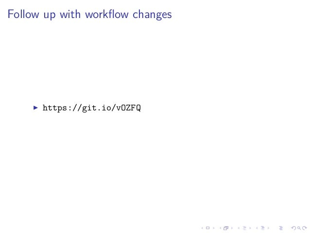 Follow up with workflow changes https://git.io/vOZFQ