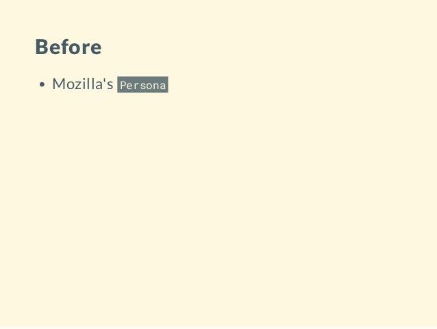 Before Mozilla's Persona