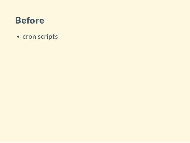 Before cron scripts