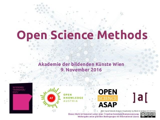 Akademie der bildenden Künste Wien 9. November 2016 Bild: Social Network Analysis Visualization by Martin Grandjean (CC BY...