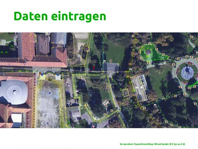 Daten eintragen Screenshot: OpenStreetMap Mitwirkende (CC by-sa 2.0)