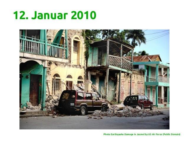 12. Januar 2010 Photo Earthquake Damage in Jacmel by US Air Force (Public Domain)
