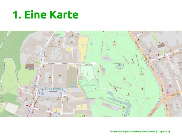 1. Eine Karte Screenshot: OpenStreetMap Mitwirkende (CC by-sa 2.0)