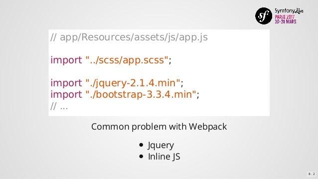 Utiliser Webpack dans une application Symfony