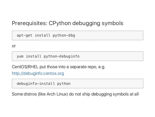 Debugging Python with gdb