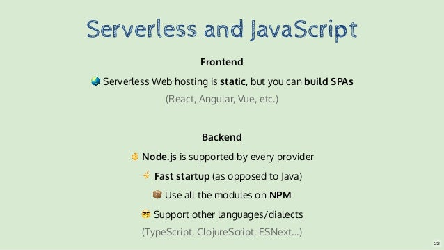 Building a Serverless company with Node js, React and the Serverless …