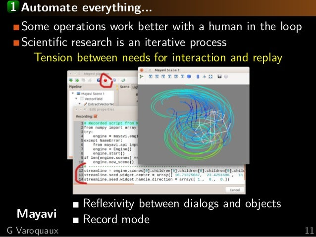 1 Automate everything... Some operations work better with a human in the loop Scientific research is an iterative process T...