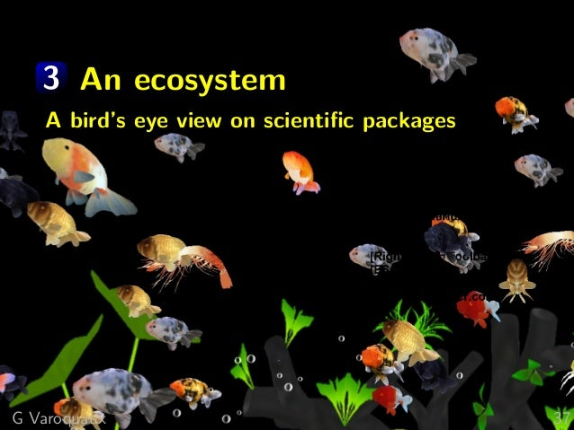3 An ecosystem A bird's eye view on scientific packages G Varoquaux 37
