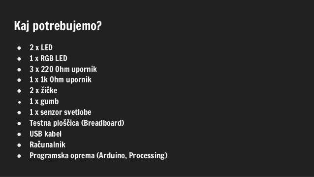 Prižiganje lučk z Arduinom Slide 3