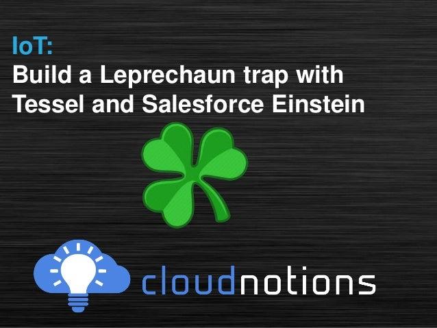 IoT: Build a Leprechaun trap with Tessel and Salesforce Einstein