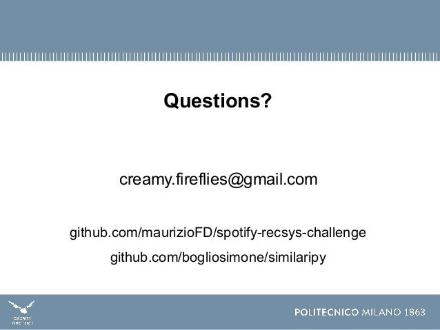 Recsys Challenge 2018 - Creamy Fireflies - Artist-driven