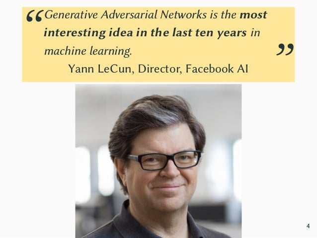 Generative Adversarial Networks Two components, the generator and the discriminator: • The generator G needs to capture th...