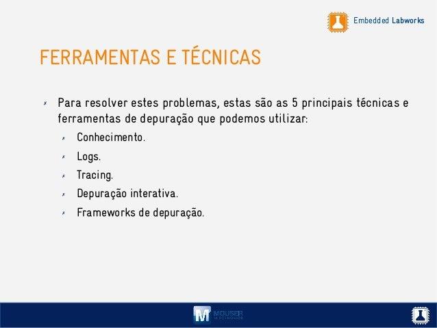 Embedded Labworks FERRAMENTAS E TÉCNICAS ✗ Para resolver estes problemas, estas são as 5 principais técnicas e ferramentas...