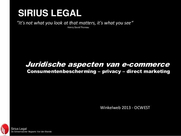 "Sirius LegalDe Scheemaecker Bogaerts Van den BrandeSIRIUS LEGAL""Its not what you look at that matters, its what you see""He..."