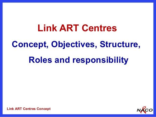 Link ART Centres  Concept, Objectives, Structure,           Roles and responsibilityLink ART Centres Concept
