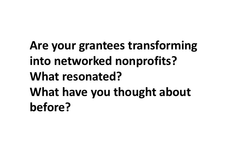 Transparent  nonprofits consider  everyone inside and     outside of the      organization resources for helping them to a...