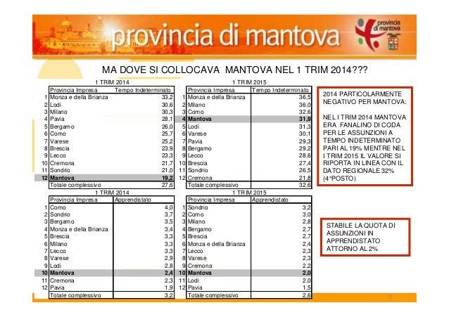 7 MA DOVE SI COLLOCAVA MANTOVA NEL 1 TRIM 2014??? Provincia Impresa Tempo Indeterminato Provincia Impresa Tempo Indetermin...