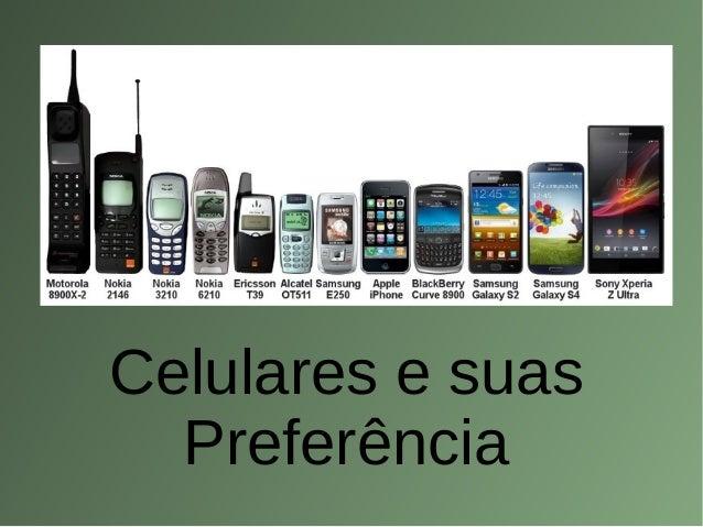 Celulares e suas Preferência