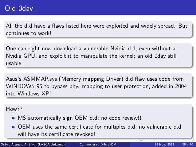 Windows's Kindnesses - Commoner to D-K(d)OM (Direct Kernel