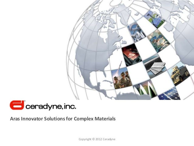 Aras Innovator Solutions for Complex Materials                             Copyright © 2012 Ceradyne