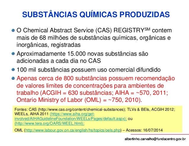 Curso Avaliação de Agentes Químicos -FUNDACENTRO-BA-2014 Slide 2