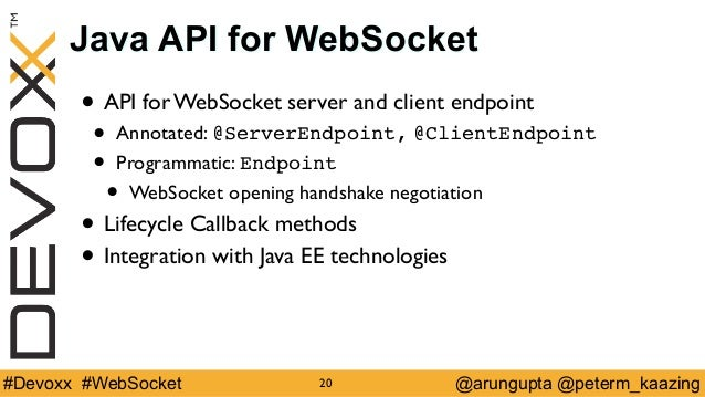 Nuts and Bolts of WebSocket Devoxx 2014