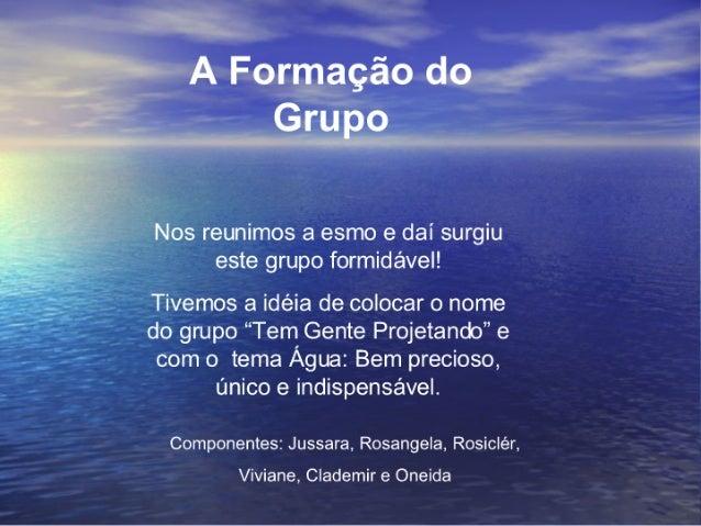 Slides Do Projeto áGua