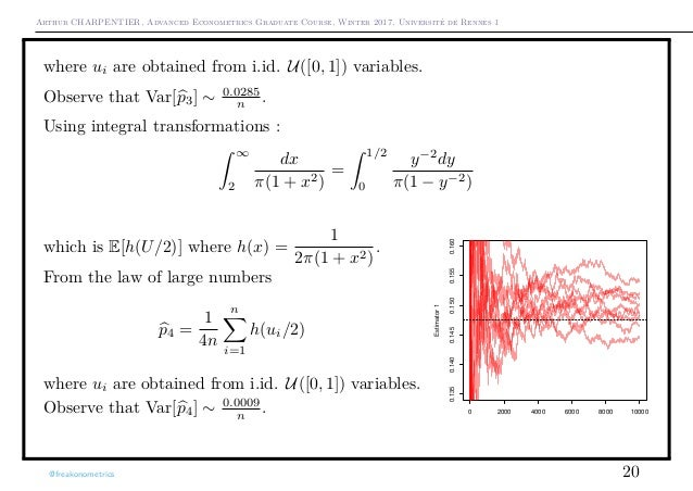 Arthur CHARPENTIER, Advanced Econometrics Graduate Course, Winter 2017, Université de Rennes 1 where ui are obtained from ...