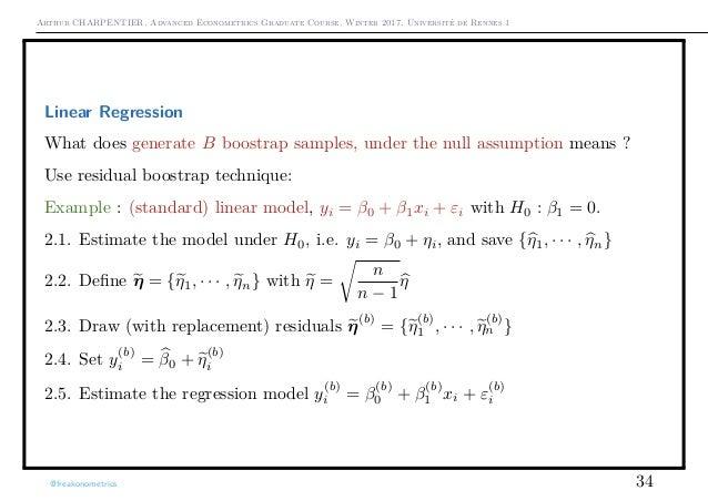Arthur CHARPENTIER, Advanced Econometrics Graduate Course, Winter 2017, Université de Rennes 1 Linear Regression What does...