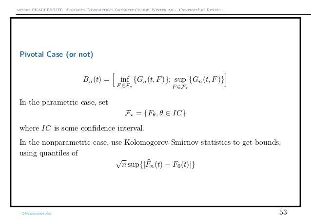 Arthur CHARPENTIER, Advanced Econometrics Graduate Course, Winter 2017, Université de Rennes 1 Pivotal Case (or not) Bn(t)...
