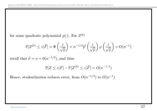 Arthur CHARPENTIER, Advanced Econometrics Graduate Course, Winter 2017, Université de Rennes 1 for some quadratic polynomi...