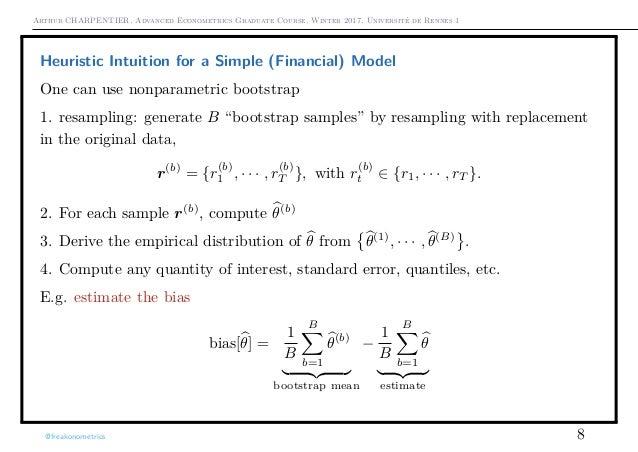 Arthur CHARPENTIER, Advanced Econometrics Graduate Course, Winter 2017, Université de Rennes 1 Heuristic Intuition for a S...