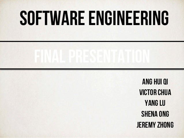 software engineering final The software engineering profession typically requires a strong understanding of programming fundamentals, computer science theories, and analytical and logical skills an intern can get hands-on software development and maintenance experience during their training.