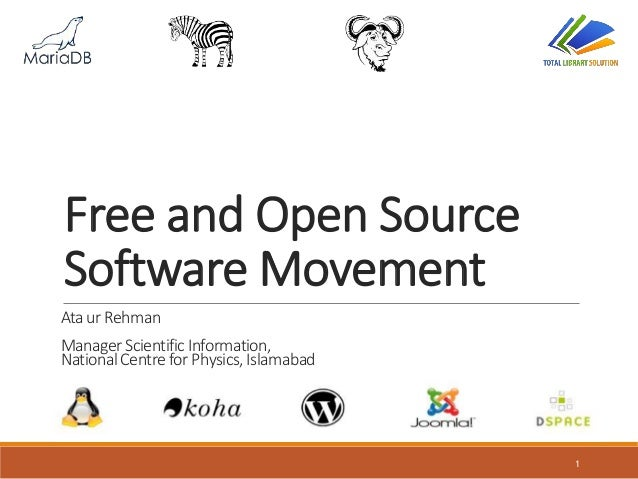 Free and Open Source Software Movement in Libraries of Pakistan