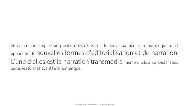 Au-delà d'une simple transposition des récits sur de nouveaux médias, le numérique a fait apparaître de nouvelles formes d...