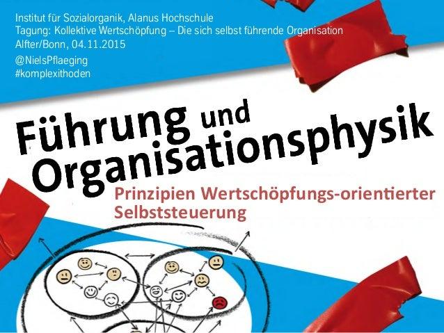 Institut für Sozialorganik, Alanus Hochschule Tagung: Kollektive Wertschöpfung – Die sich selbst führende Organisation Alf...