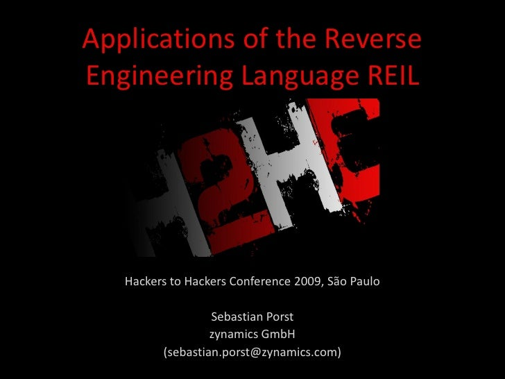 Applications of the Reverse Engineering Language REIL