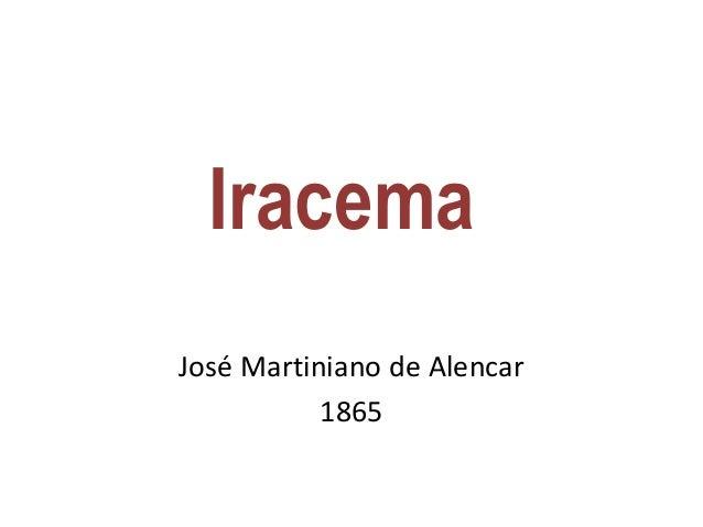 Iracema José Martiniano de Alencar 1865