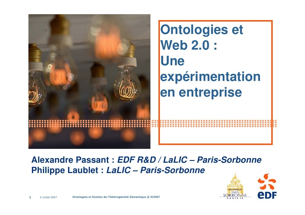 Ontologies et                                                                                      Web 2.0 :              ...