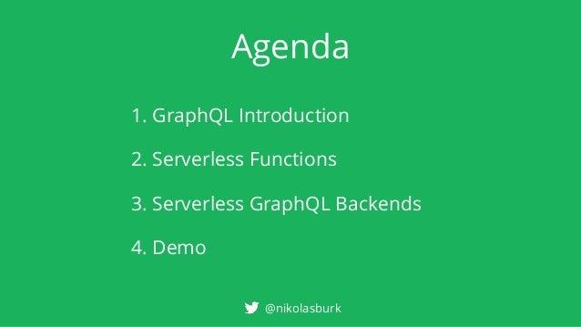 Building Serverless GraphQL Backends Slide 3