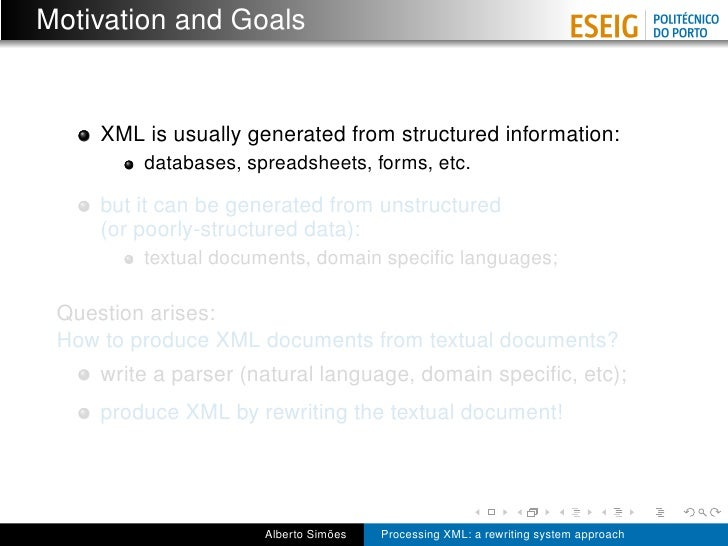 Processing XML: a rewriting system approach Slide 2