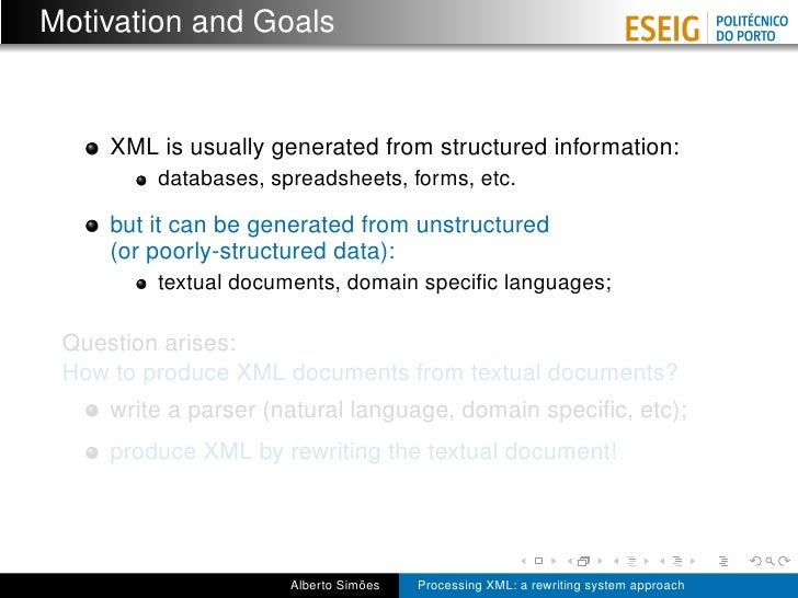 Processing XML: a rewriting system approach Slide 3