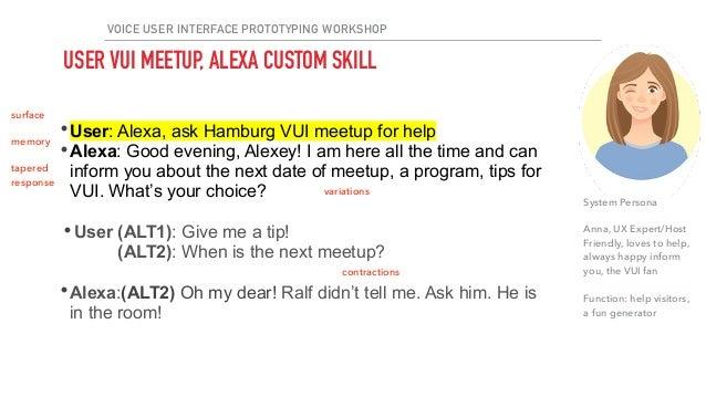 HAMBURG Voice MEETUP #4 LEARN voice user interface design!