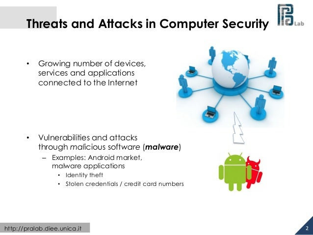 Threats and Attacks in Computer Security  • Growing number of devices,  services and applications  connected to the Intern...