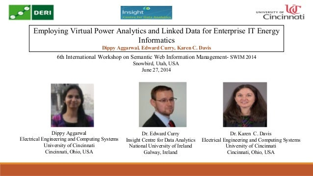 Employing Virtual Power Analytics and Linked Data for Enterprise IT Energy Informatics Dippy Aggarwal, Edward Curry, Karen...
