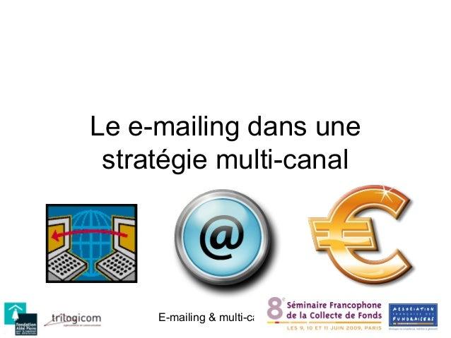 Le e-mailing dans une stratégie multi-canal     E-mailing & multi-canal   Conférence AFF des 11&12 février 2009