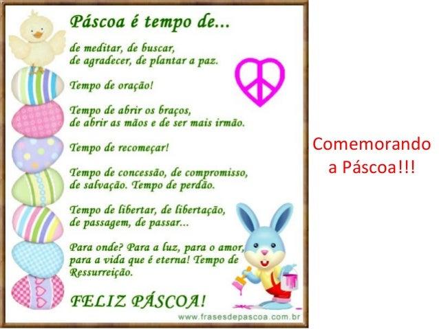 Comemorandoa Páscoa!!!