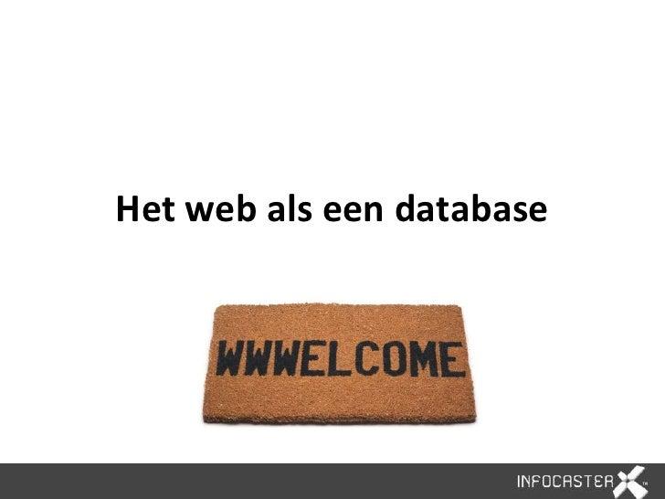 Het web als een database